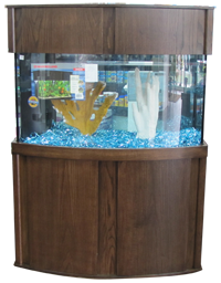 aquarium wood products bowfront cabinet for aquariums