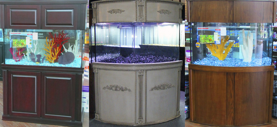 Half Round Aquarium Cabinets Florida and Southeaset