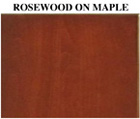 Rosewood on Maple